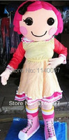 mascot girl Mascot Costume Adult Size lalaloopsy Girl Mascotte Outfit Suit Fancy Dress EMS free shipping