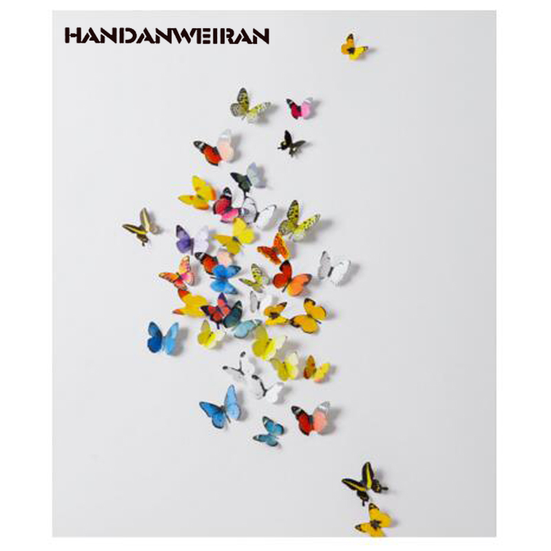 19 шт., декоративные настенные наклейки в виде бабочек
