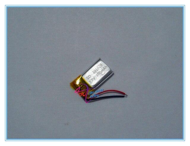 Bluetooth headset batterie 301020 100 mah kleine polymer batterien ...