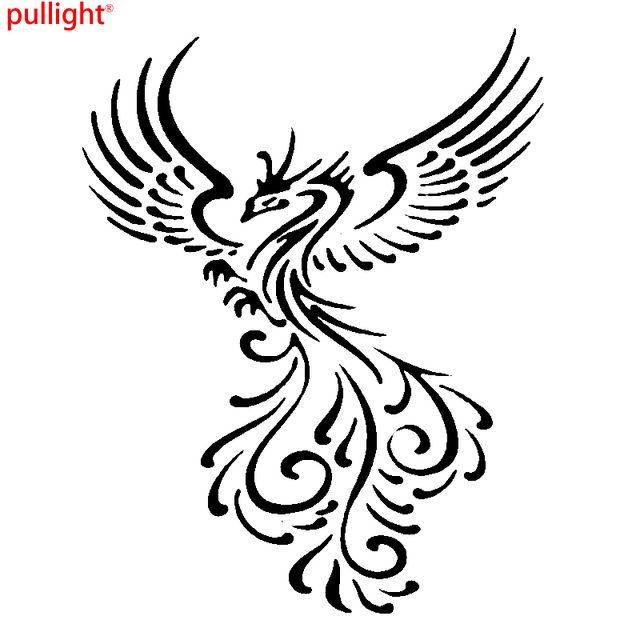 Hot Sell Engine Hood Car Vinyl Decal Art Sticker Graphics Beautiful Bird  Phoenix-in Car Stickers from Automobiles & Motorcycles on Aliexpress com |