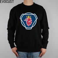 SCANIA large logo men Sweatshirts Thick Combed Cotton