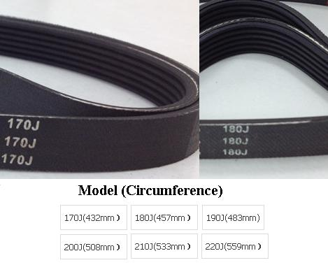 Free Shipping 170J Treadmill belt transmission belt quality s