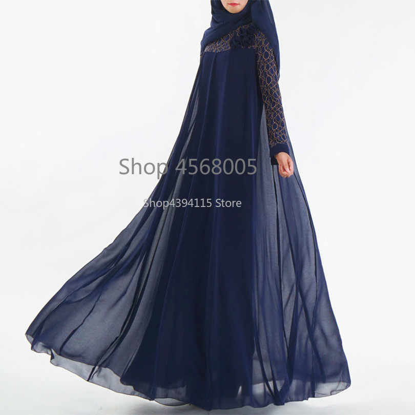 De moda musulmana vestido de Abaya islámica ropa para mujeres de Malasia Jilbab Djellaba bata Musulmane turco Baju Kimono caftán túnica