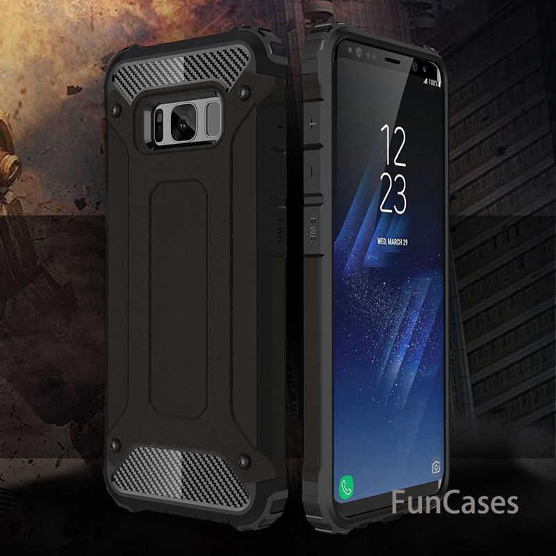 Étui pour samsung de téléphone de luxe robuste et robuste Galaxy S10 S8 S9 Plus S10e S5 S6 S7 bord hybride housse de protection antichoc