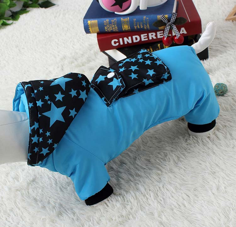 Waterproof Fashion Pet Clothes Large pocket Thick Pet Jumpsuit Coat With Hooded Windproof Winter Outdoor Cotton Pet Apparel XS-XXL9