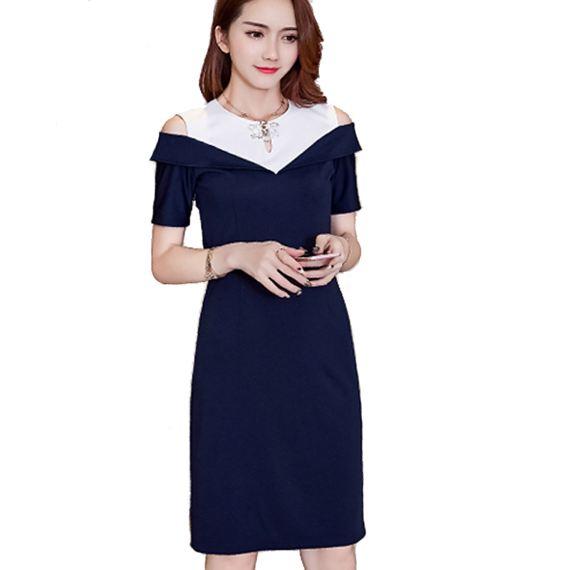 Womens Summer Lotus leaf Elegant Vintage Casual Short Sleeve Wear To Work Office Party Off Shouder Pencil Bodycon Dress L7268