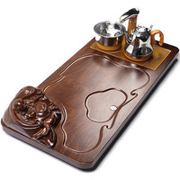 Solid wood tea tray Chinese tea Table Household tea set automatic water heating electric furnace four in one tea tray Chahai