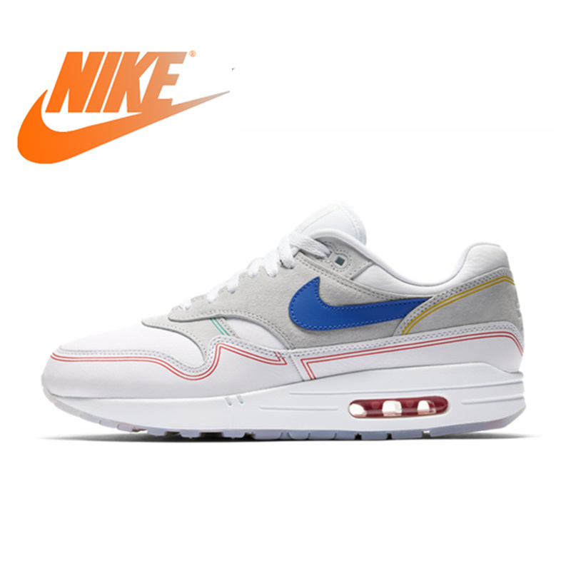 Original Authentic Nike Air Max 1 Pompidou Shoes Running Shoes  Comfortable And Breathable New Footwear Designer Athletic AV3735