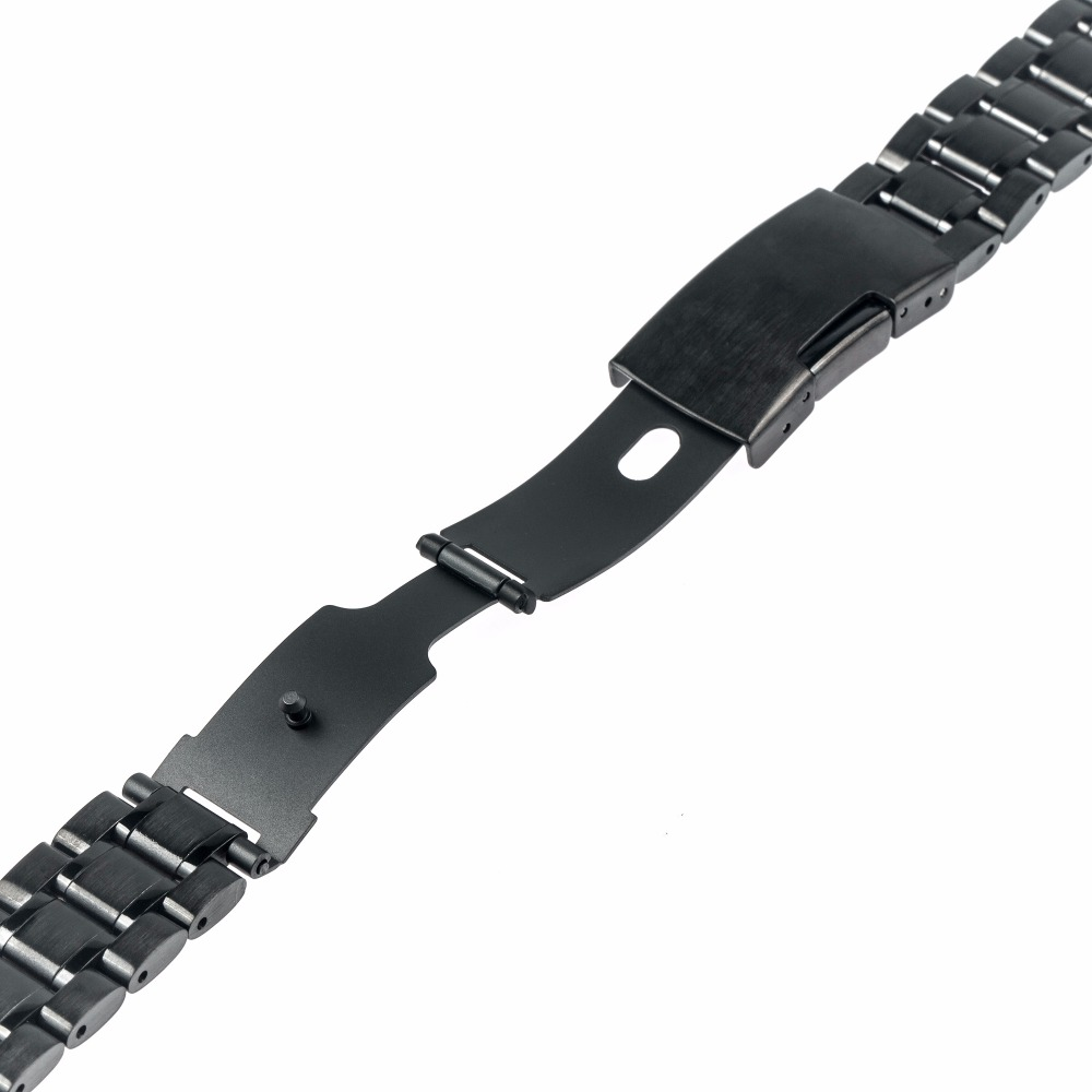 22mm Edelstahl Uhrenarmband Metall Uhrenarmband Armband für - Uhrenzubehör - Foto 3