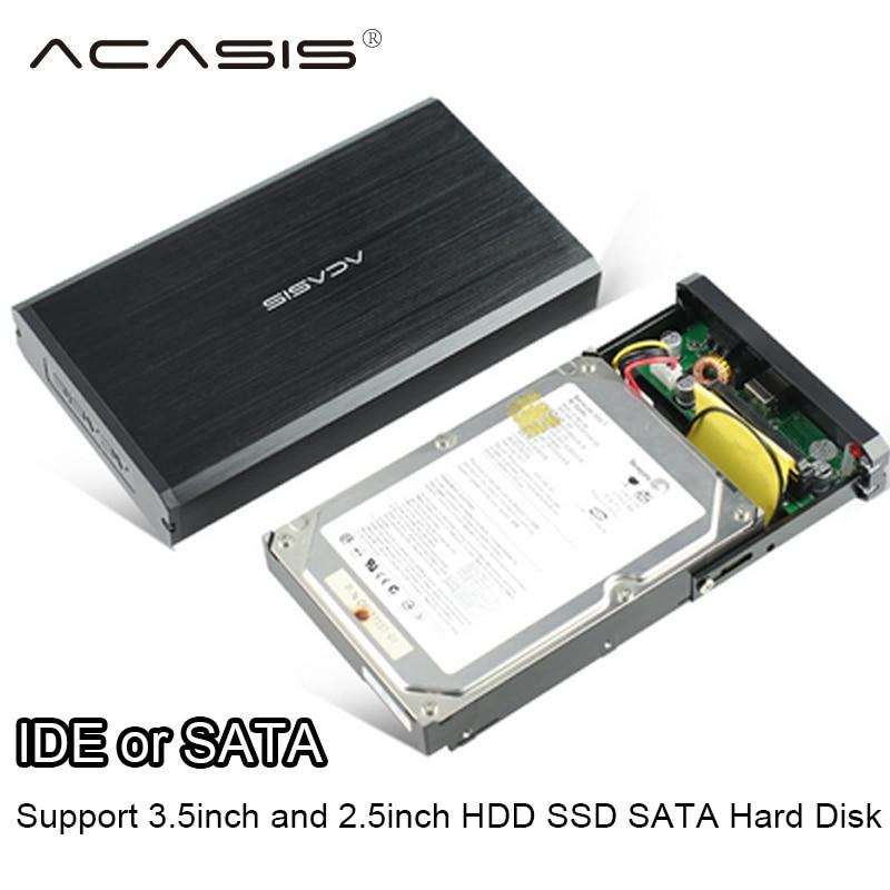 ACASIS USB 2 0 SATA IDE Interface 3 5 inch HDD SSD Enclosure Mobile hard disk