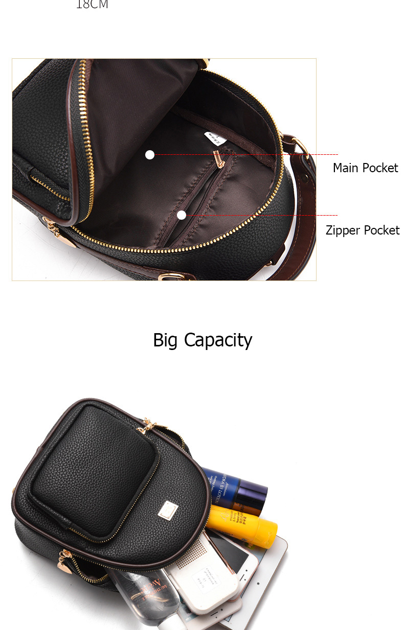 HTB1ssrhtv9TBuNjy0Fcq6zeiFXaS Brand New Leather Small Women Backpacks Zipper Shoulder Bag Female Phone Bags Lady Portable Backpack for Girls Casual Style