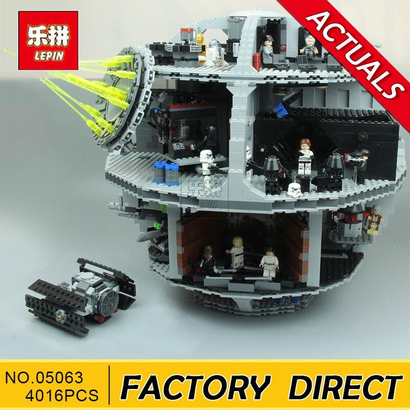 Лепин 05063 4016 шт. натуральная new star War Force пробудить UCS Звезда смерти развивающие строительные блоки кирпичи игрушки мальчик 7515