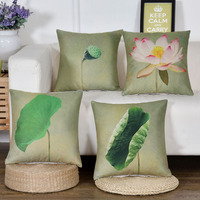 3D Digital Print Plant Flower Floral Lotus Luxury Quality Decorative Cushion With Filling Core Car Chair