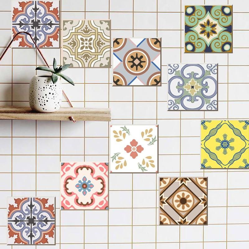 20pcs Set Pvc Diy Mosaic Tile Stickers Arabian Retro