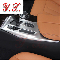 High Quality Car cover For BMW Interior Trim Gear Shift Box decorative Cover For BMW F10 F11 F18 5 series 2018 LHD Car Styling