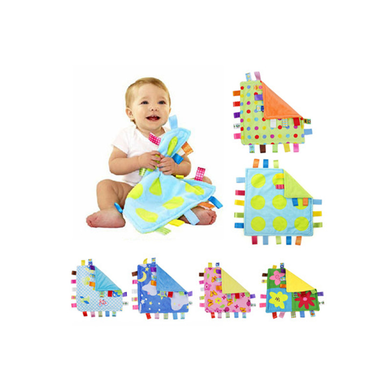 7Style 30*30cm Baby Appease Towel Baby  Comforting Taggies Blanket Super Soft Square Plush Baby Appease Towel Baby Toys