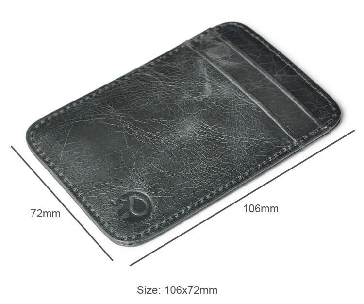 Slim Credit Card Holder Mini Wallet ID Case Purse Bag Pouch Black Antitheft Rfid Blocking Wallet Pass Port Holder