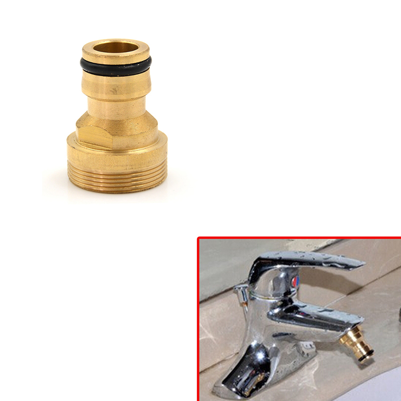 Hot  Gold Color Tap Brass Garden Hose Pipe Tube Quick Connector Watering Equipment Spray