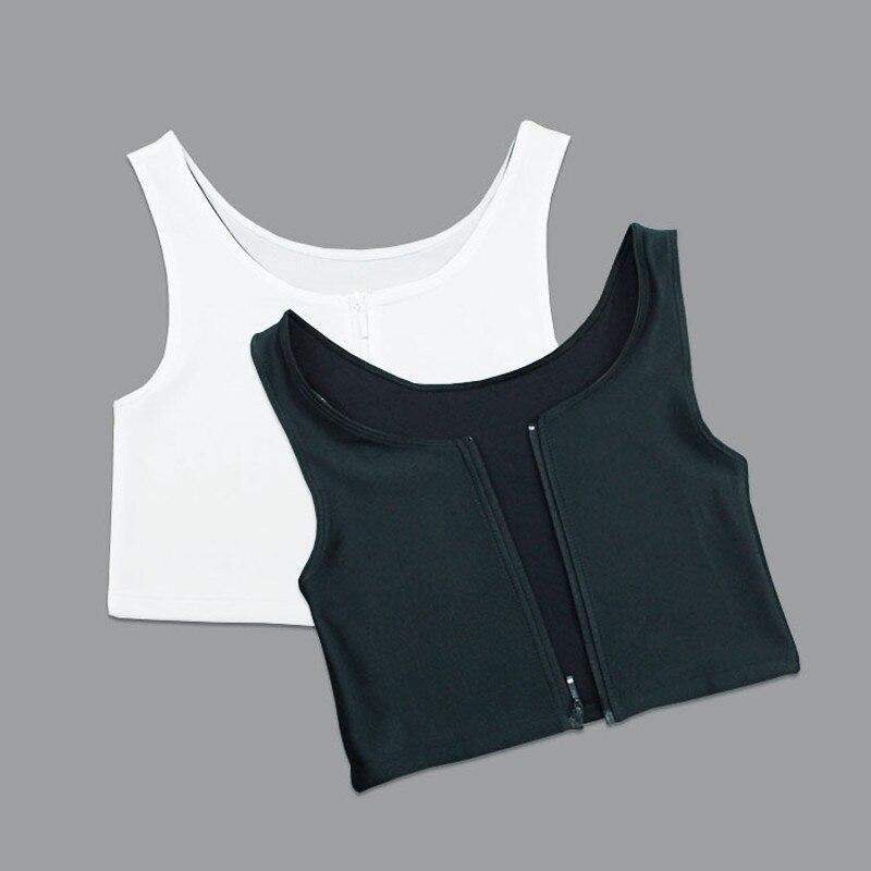 Zipper Court Corset Tomboy Débardeurs Sous-Vêtements Les Respirant Shaper Corset Renforcer aucune Trace Plus La Taille Du Sein Liant Gilet