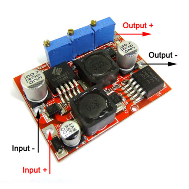 DC 4-35V to 1.25-25V 0-4A Auto Step-Up/Step-Down Converter Constant Current Constant Voltage Power Supply Module