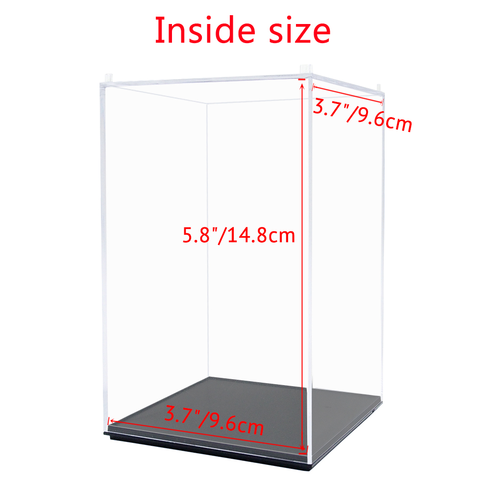 MagiDeal Clear Acrylic Figure Toy Display Show Case Dustproof Box Ornaments