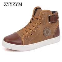 ZYYZYM Hot Sale Sneakers For Men Lace Up High Style Fashion Casual With Flats Youth Vulcanized