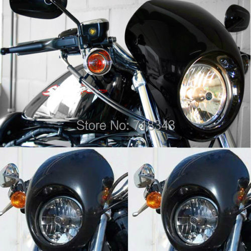 ФОТО Motorcycle Drag Headlight Fairing Visor Mask Fit For 1973-UP Harley Sportster Dyna FX/XL Free Shipping
