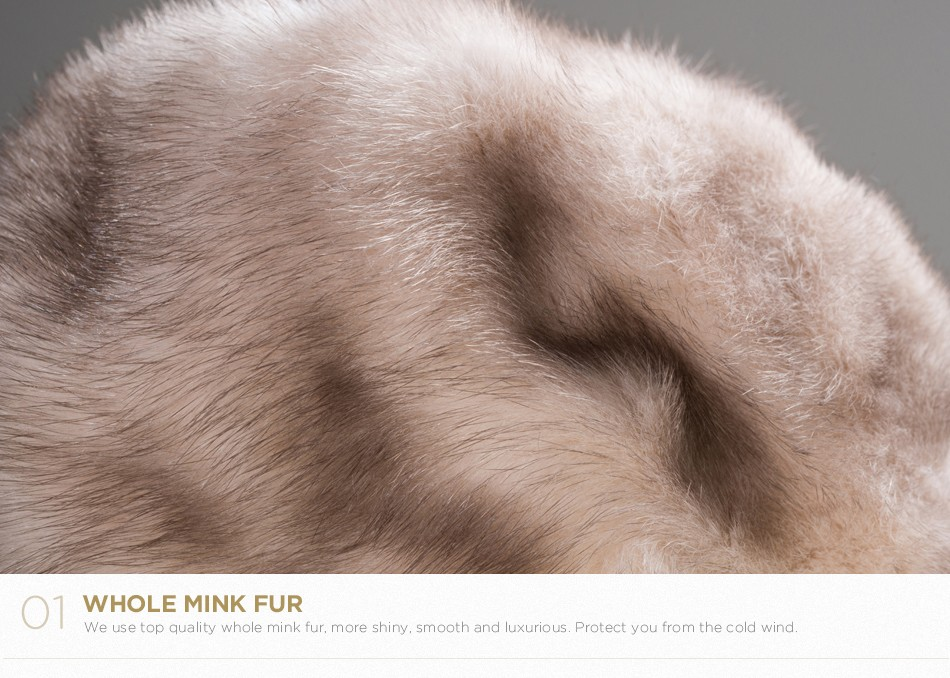 mink fur hat female winter PCM027 (6)