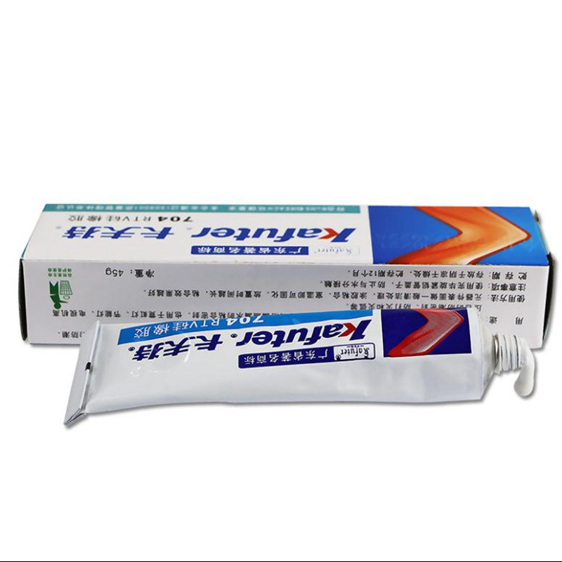 704 Kafutel Silicone Rubber White Strong High Temperature Sealant Electronic Fixed Insulation Waterproof