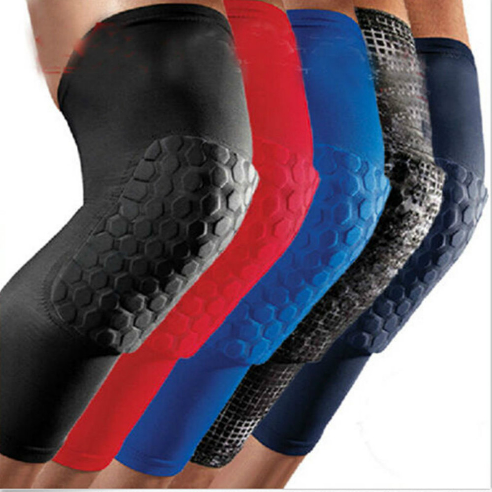 Hot Knee Pad Strong Honeycomb Crashproof BasketBall Protective Gear Long Leg Sleeves Knee Pads