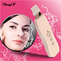 Ultrasonic Skin Scrubber Facial Cleaner Anion Ultrasound Face Peeling Skin Rejuvenation Beauty Device Instrument Machine Massage