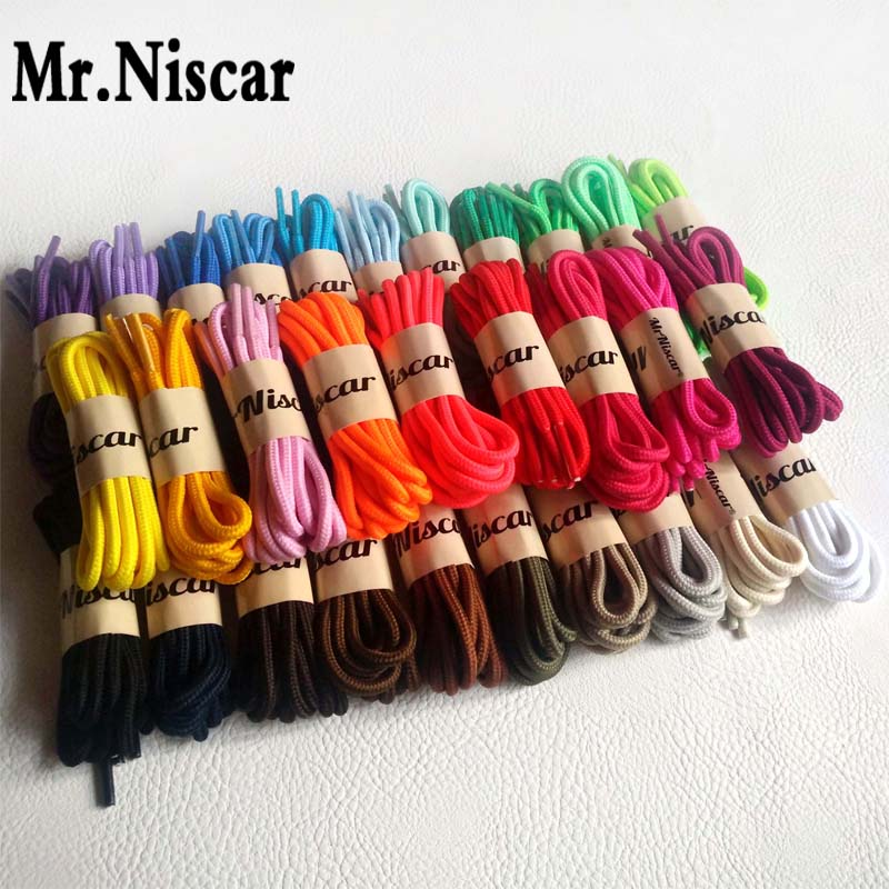 Mr.Niscar 1 Pair Round Shoelaces Fashion Casual Sneakers Shoe Laces High Quality Polyester Shoelaces String Rope 30 Color