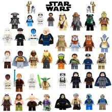 Única Venda jedi Star Wars Luke Leia O Anakin Darth Vader Yoda Han Solo Jar Jar Modelo Building Blocks Brinquedos starwars figuras Bricks