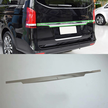 Stainless steel Exterior car accessories Car body kits rear bumper foot plate For 2017 Mercedes-Benz V class car body kits plastic rear bumper foot plate car sticker for toyota vios 2017