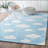 Cloud Pattern Carpets Kids Room Bedroom Bedside Pink Rugs Cartoon Kindergarten Carpet For Living Room Sofa Coffee Table Mat
