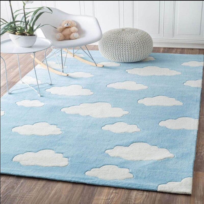 Nuage motif tapis enfants chambre chambre chevet rose tapis bande dessinée maternelle tapis pour salon canapé Table basse tapis