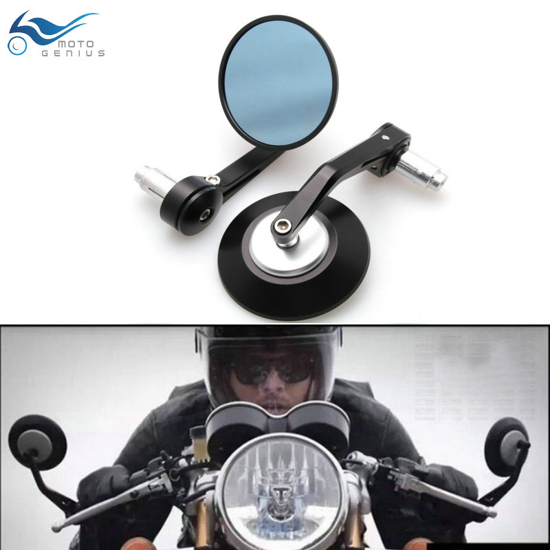 7/8 22mm Motorbike Handle Bar End Rear View Mirrors Round Motorcycle Rear View Mirrors Cafe Racer Modification Mirrior 1pc new titanium plate sheet ti metal for industry tool 100 100 0 5