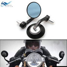 7/8 1 Motorbike Handle Bar End Rear View Mirrors Round Motorcycle Cafe Racer Modification Mirrior