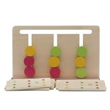Математика Монтессори бусины Развивающие игрушки для детей раннего обучения четыре сочетание цветов игры обучения для От 2 до 4 лет детей A64T