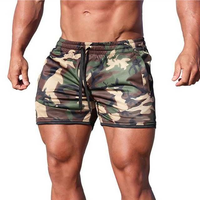 Summer new fitness shorts Fashion Breathable quick-drying gyms Bodybuilding Joggers shorts Slim fit shorts camouflage Sweatpants