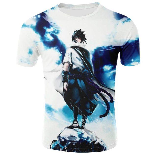 Summer shirt T-shirt 3D anime Naruto men and women print short-sleeved European and American high-quality short sleeve 2