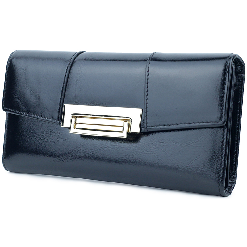 New Arrivals Long Vintage Women Zipper Wallets Premium Genuine Oil Wax Leather European And American Cover style Clutch Purses in Wallets from Luggage Bags