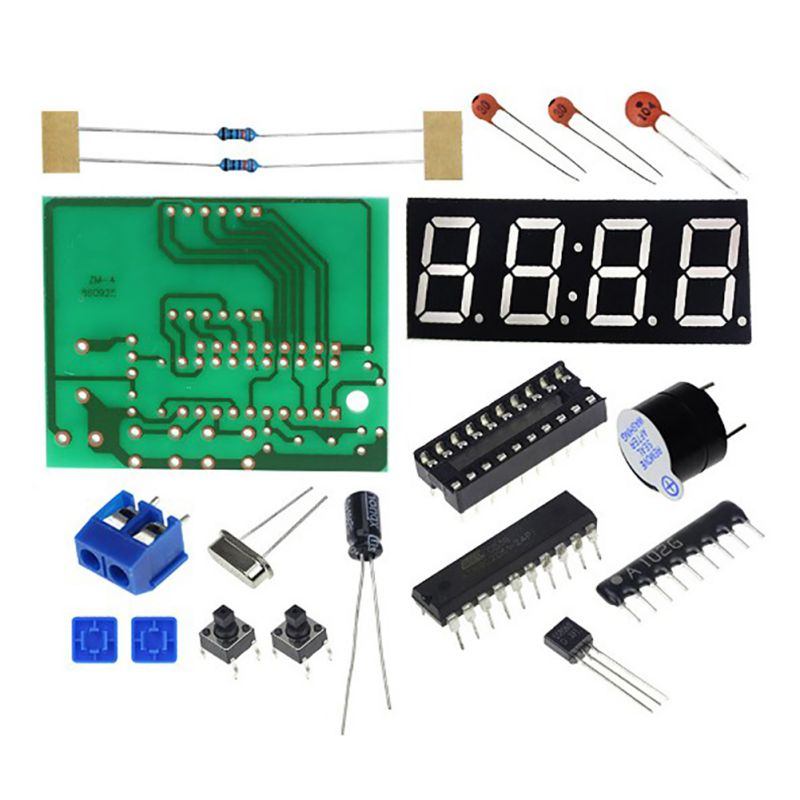 2018 4 Digital Electronic Clock Microcontroller Digital Clock DIY Electronic Production Kit Parts hot