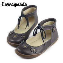 Careaymade-2018 summer new style female leather boots, pure handmade head layer cowhide shoes,literary and artistic sandals