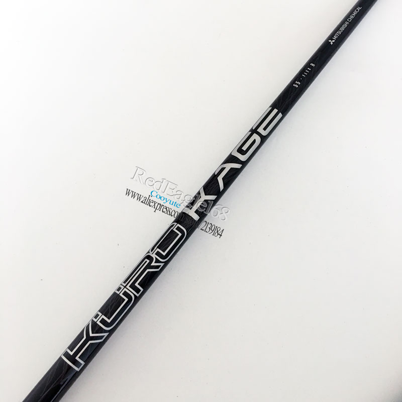 Cooyute New Driver Golf Shaft Kuro Kage Golf Driver Shaft R Or S Flex 1pcs/lot Black Golf Wood Graphite Shaft Free Shipping