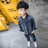 2pcs Boys Denim Jacket Boys Jeans Clothing Set Boy Outerwear Denim Pant Boys Clothes For 1