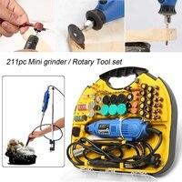 220V Power Tools Electric Mini Drill Rotary Tools Kit Set For Dremel 3000 4000 Hand Metalworking Drilling Machine Polishing