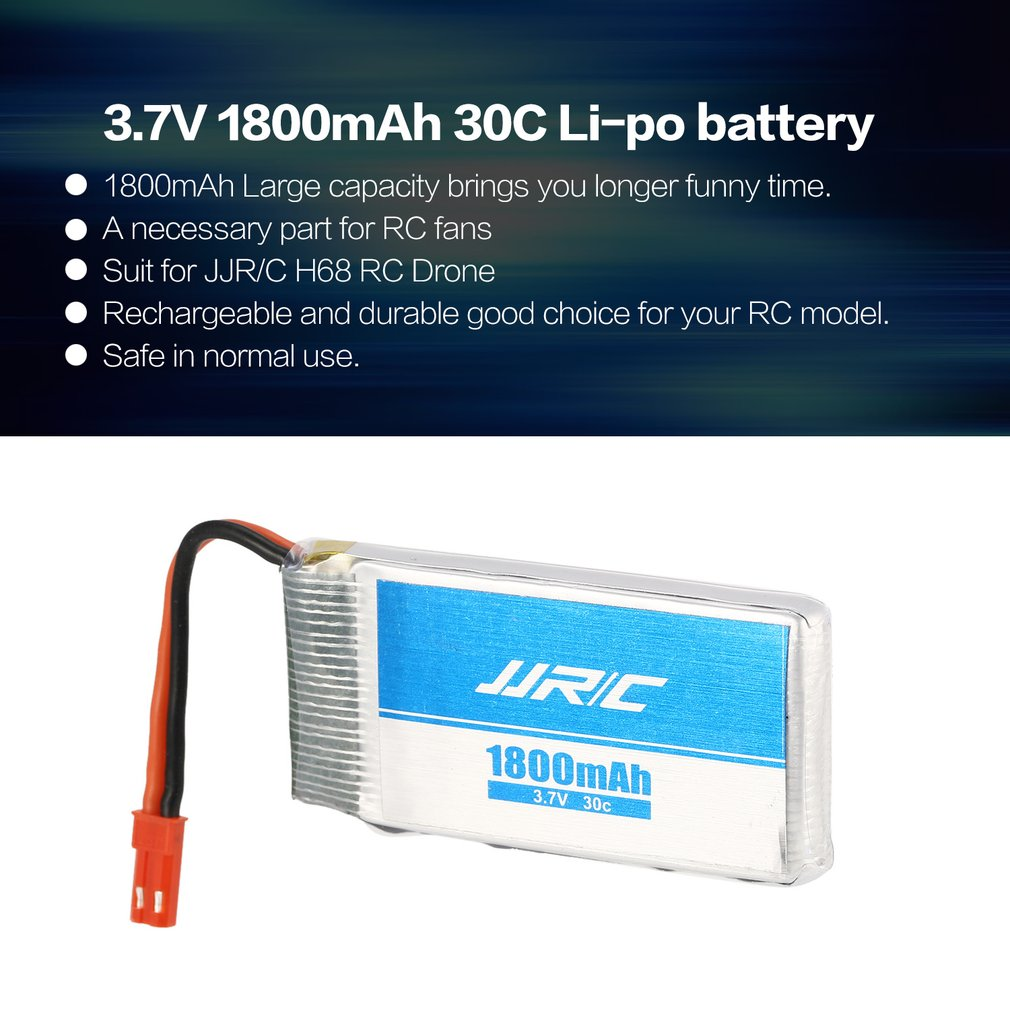 JJR/C 3.7V <font><b>1800mAh</b></font> 30C <font><b>2S</b></font> Li-po Rechargeable Battery Spare Parts Accessories for JJR/C H68 RC Drone Quadcopter Aircraft UAV image