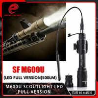 Element Airsoft M600U latarka taktyczna Scout światła LED 500 lumenów CREE LED XP-G R5 światła polowanie M600 latarka przełącznik