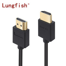 Lungfish Standard HDMI to Standard HDMI 1.4V 1080P Male to Male HDMI Cable 3D High Speed HDMI Adapter for Apple TV xbox computer(China)